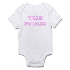 Pink team Natalee Infant Bodysuit
