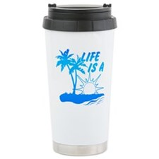Life Is A Beach Ceramic Travel Mug