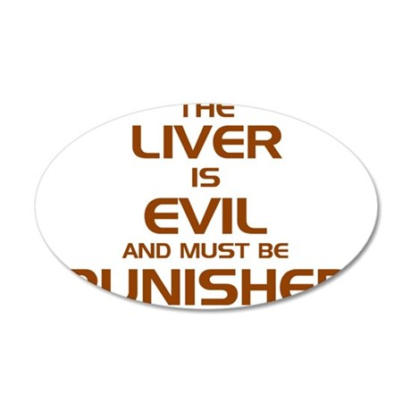 The Liver Is Evil And Must Be Punished 20x12 Oval