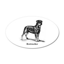 Rottweiler 22x14 Oval Wall Peel