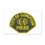 Compton Police 20x12 Wall Decal