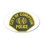 Compton Police 20x12 Oval Wall Decal