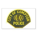 Compton Police Sticker (Rectangle 10 pk)