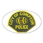 Compton Police Sticker (Oval 50 pk)