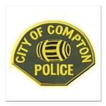 Compton Police Square Car Magnet 3