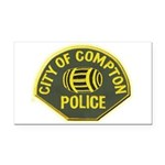 Compton Police Rectangle Car Magnet