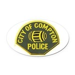 Compton Police Oval Car Magnet