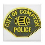 Compton Police Tile Coaster