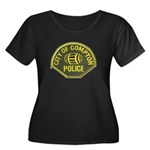 Compton Police Women's Plus Size Scoop Neck Dark T