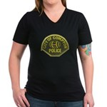Compton Police Women's V-Neck Dark T-Shirt
