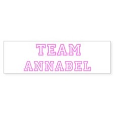 Pink team Annabel Bumper Bumper Sticker
