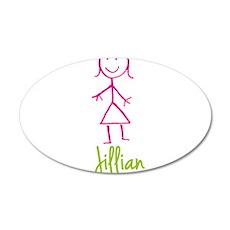 Jillian-cute-stick-girl.png 20x12 Oval Wall Decal
