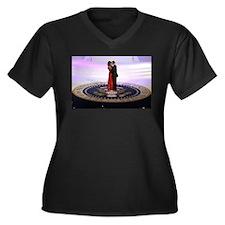 Michelle Barack Obama Women's Plus Size V-Neck Dar
