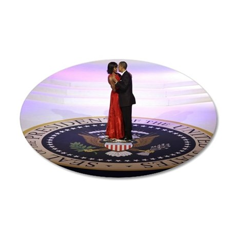 Michelle Barack Obama 20x12 Oval Wall Decal
