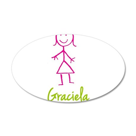 Graciela-cute-stick-girl.png 20x12 Oval Wall Decal