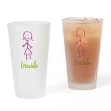 Graciela-cute-stick-girl.png Drinking Glass