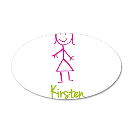Kirsten-cute-stick-girl.png 20x12 Oval Wall Decal