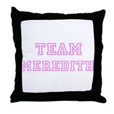 Pink team Meredith Throw Pillow