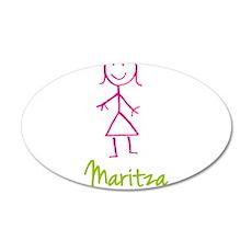 Maritza-cute-stick-girl.png 20x12 Oval Wall Decal
