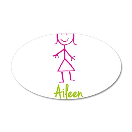 Aileen-cute-stick-girl.png 35x21 Oval Wall Decal