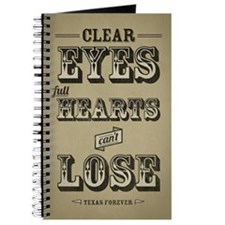 Clear Eyes Full Hearts Journal