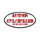 Autism Unlabelled Red Patches