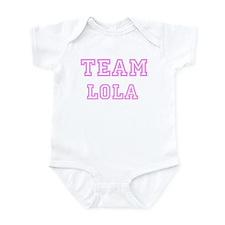 Pink team Lola Infant Bodysuit
