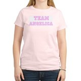 Pink team Angelica Women's Pink T-Shirt