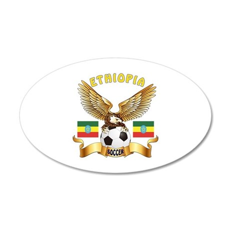 Ethiopia Football Design 35x21 Oval Wall Decal