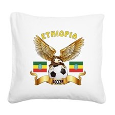 Ethiopia Football Design Square Canvas Pillow