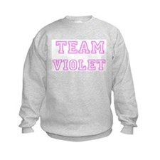 Pink team Violet Sweatshirt
