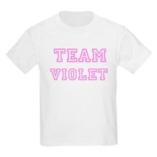 Pink team Violet Kids T-Shirt