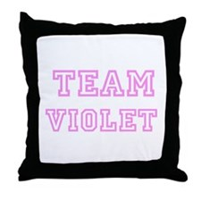 Pink team Violet Throw Pillow