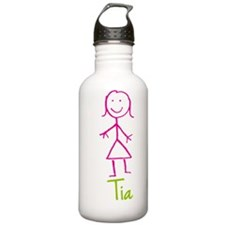 Tia-cute-stick-girl.png Sports Water Bottle