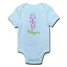 Milagros-cute-stick-girl.png Infant Bodysuit
