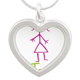Tania-cute-stick-girl.png Silver Heart Necklace