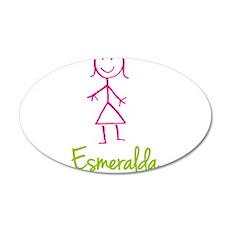 Esmeralda-cute-stick-girl.png 20x12 Oval Wall Deca