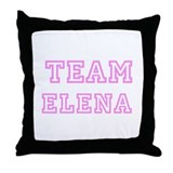 Pink team Elena Throw Pillow