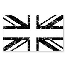 """Black Lines Union Jack"" Rectangle Decal"