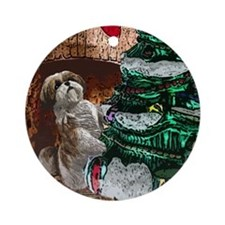 Shih Tzu Christmas Holiday Tree Ornament