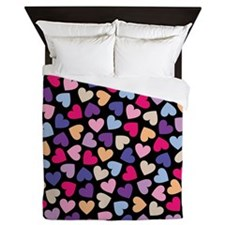 Hearts #2 - Valentines Day Pattern, Queen Duvet