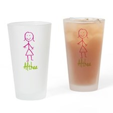 Althea-cute-stick-girl.png Drinking Glass