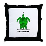 Green Turtle-Tough-Tenacious-Triumphant Throw Pill