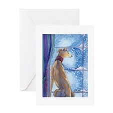 Cute Lurcher dog Greeting Card
