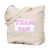 Pink team Pam Tote Bag