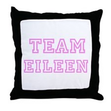 Pink team Eileen Throw Pillow