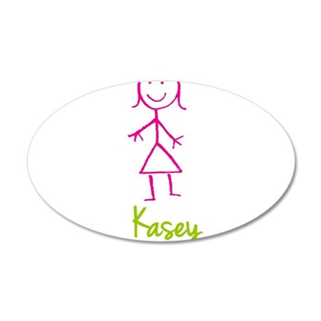 Kasey-cute-stick-girl.png 20x12 Oval Wall Decal