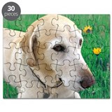 Yellow Lab in Meadow Puzzle