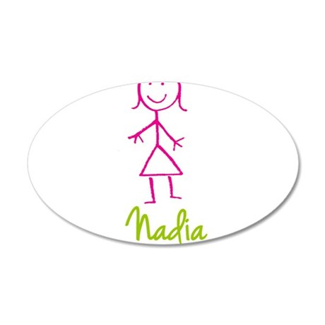 Nadia-cute-stick-girl.png 35x21 Oval Wall Decal