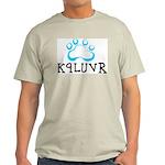 K9LUVR Ash Grey T-Shirt